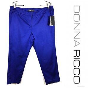 NWT DONNA RICCO Crop Pants Sz 14 $99!